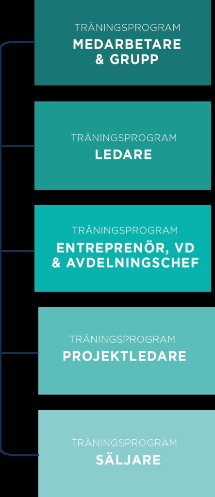 T2 Business träningsprogram fem steg mobil